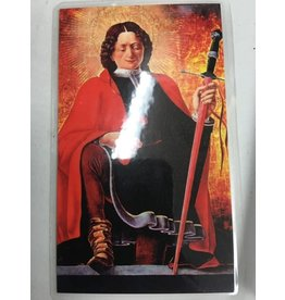 Nelsons Fine Art and Gifts Florian Firefighter Guardian Angel Holy Card with Prayer for Firemen