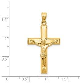 14k Polished Crucifix Pendant