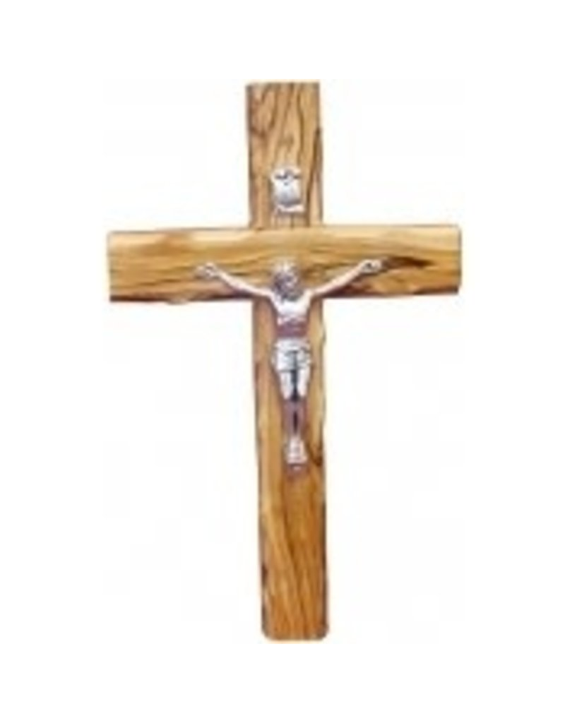 "My Caring Cross 10"" Holy Land Olive Wood Crucifix"