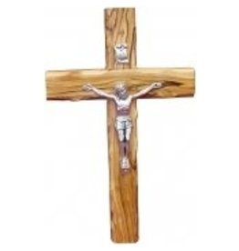 "My Caring Cross 8"" Holy Land Olive Wood Crucifix"