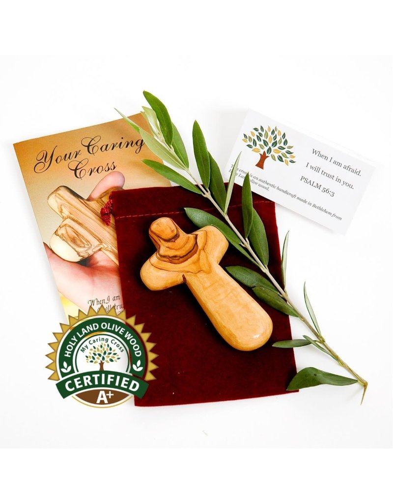 My Caring Cross Certified Olive Wood Caring Cross Gift Set
