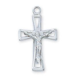 "McVan Sterling Silver Crucifix 18"""