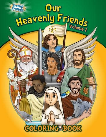 Brother Francis Coloring Book: Our Heavenly Friends vol.1