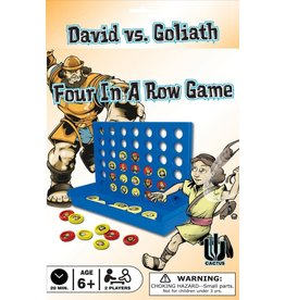 Cactus Game Design Inc. Game-Four In A Row: David Vs. Goliath (2 Players)