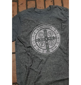 Romantic Catholic St. Benedict T-shirt Large