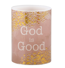 Heartfelt Shimmer - LED Candle - Small - God Is Good