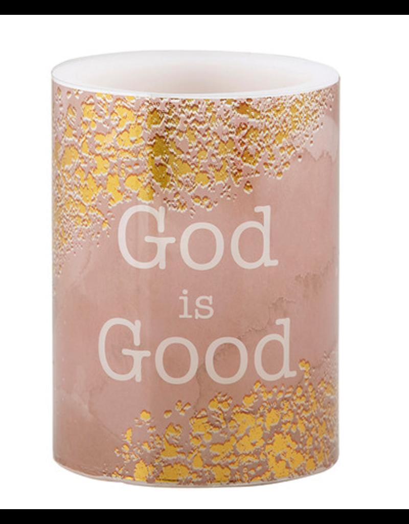 Heartfelt Shimmer - LED Candle - Small - God Is Good