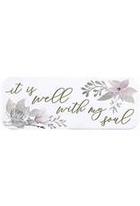 """Heartfelt """"It Is Well with My Soul"""" Enamel Plaque"""