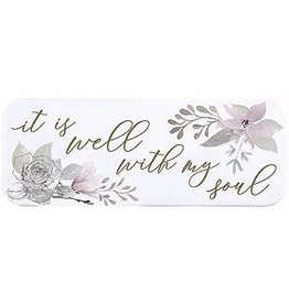 "Heartfelt ""It Is Well with My Soul"" Enamel Plaque"