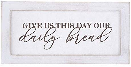 "Heartfelt ""Give Us This Day"" Framed Wall Art"