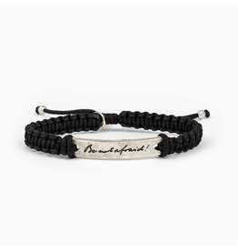 My Saint My Hero Be Not Afraid Bracelet Silver and Black
