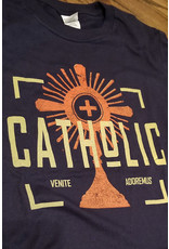 Romantic Catholic Catholic Venite Adoremus T-Shirt