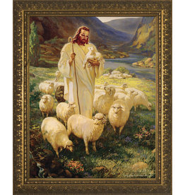 "Nelson Fine Art Good Shepherd - Gold Framed Art 11""x14"""