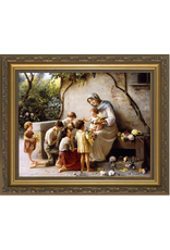 "Nelson Fine Art Adoration (Mary and Jesus with Children) by Guiseppe Magni Framed Art 11""x14"""