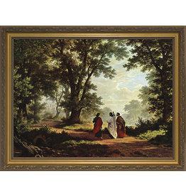 """Nelson Fine Art Road to Emmaus - Standard Gold Framed Art 12""""x16"""""""
