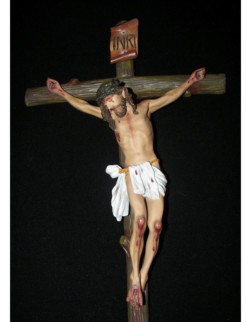 "Fiat Imports Jesus Crucified on a Tree 24"" Crucifix"