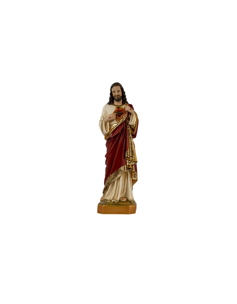 "Fiat Imports 12"" Sacred Heart of Jesus Statue"