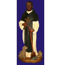 "Fiat Imports St. Martin de Porres 11"" Statue"