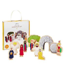 Hallmark Jesus Lives  Wood Play Set, 11 pieces