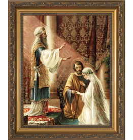 Nelson Fine Art Wedding of Joseph & Mary Framed Art