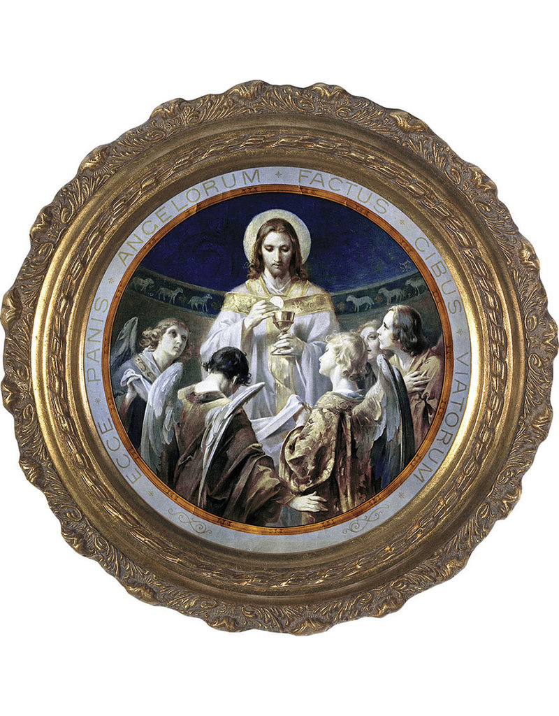 Nelsons Fine Art and Gifts Christ, Bread of Angels Canvas - Round Framed Art