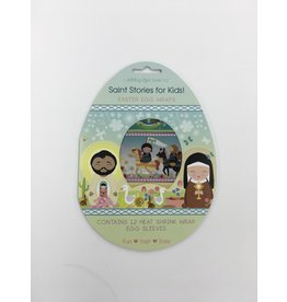 Shining Light Dolls Saint Stories for Kids Egg Wraps: Set of 12 Wraps