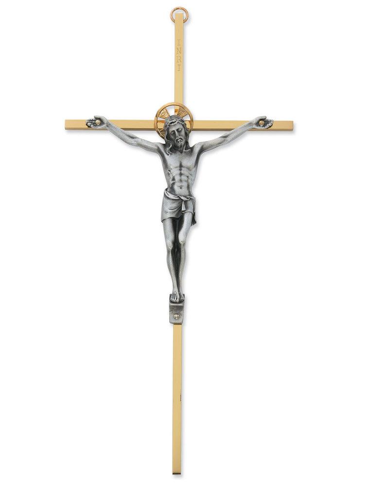 "McVan 8"" Brass Crucifix Boxed"