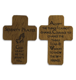 "HJ Sherman 1 3/4"" Serenity Prayer Pocket Cross"