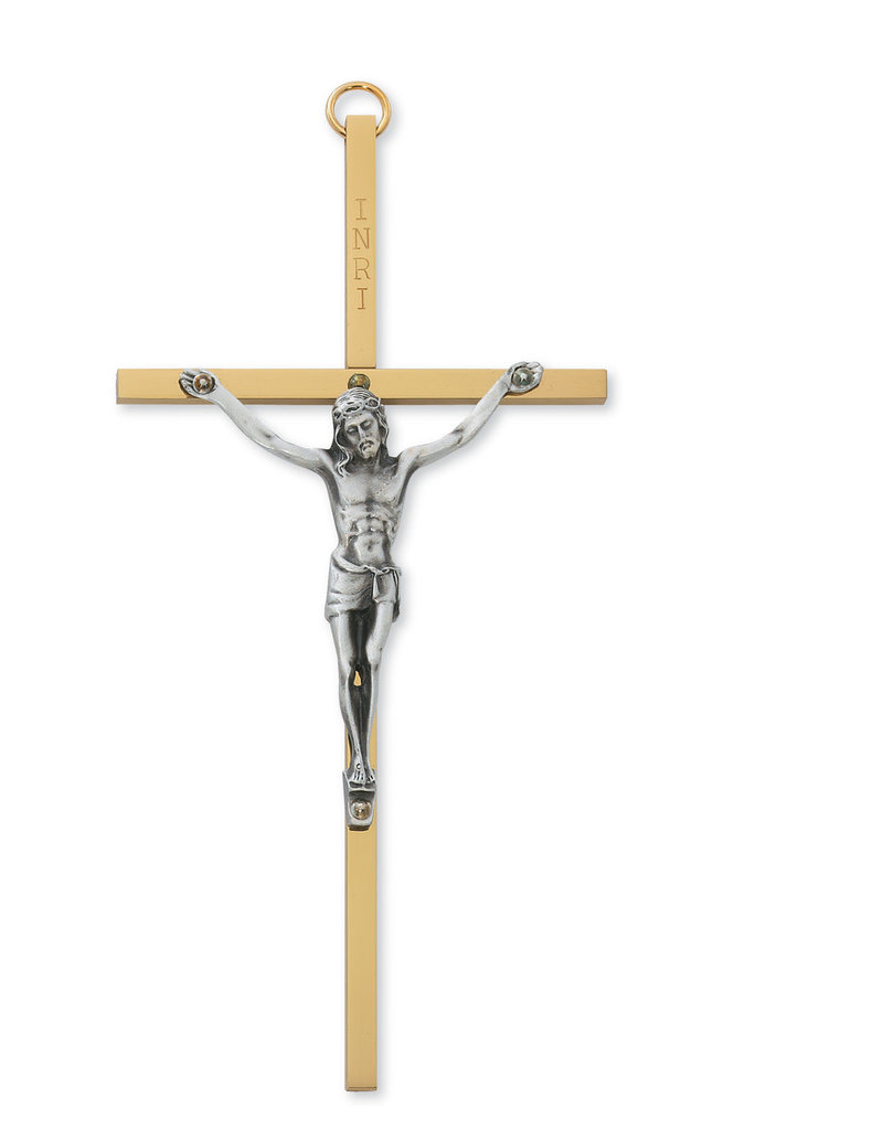"McVan 6"" Brass Crucifix"