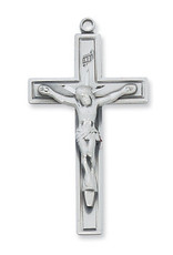 """McVan Sterling Silver Crucifix with 24 """" Chain"""