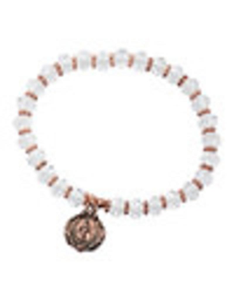 McVan Crystal Rose Gold Stretch Bracelete