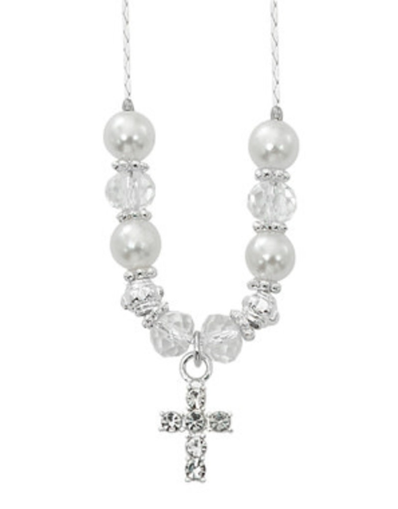 "McVan 16-18"" Pearl and Crystal Pendant"