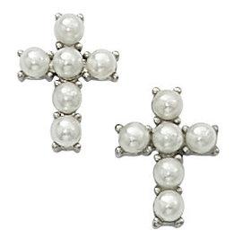 McVan Pearl Cross Earrings