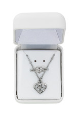 """McVan Heart Cross Ring and Pendant with 16"""" Chain Set"""
