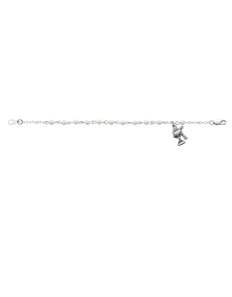 "McVan 6 1/2"" Pearl Communion Bracelet"