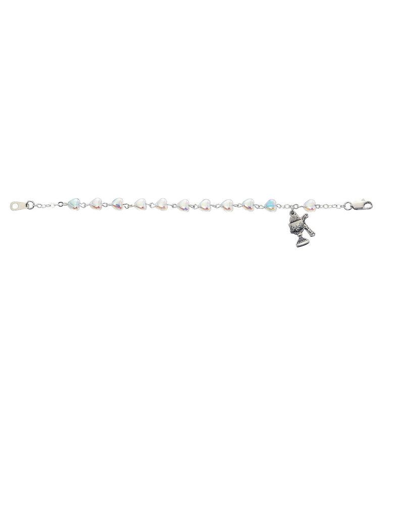 "McVan 6 1/2"" Crystal Heart Communion Bracelet"