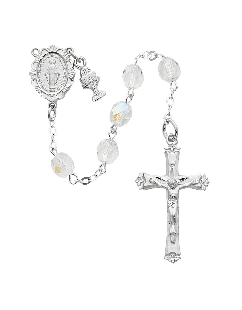 McVan 6mm Crystal First Communion Rosary