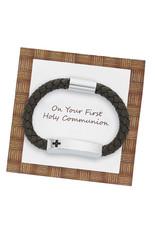 McVan Boy's Cross ID Magnetic Bracelet