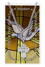 McVan Pewter Four-Way with Holy Spirit Prayer Card