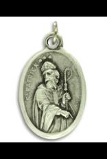 St. Patrick and St. Bridget Oxidized Medal