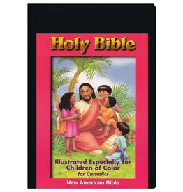Catholic World Publishing NAB Children Of Color Bible-White Imitation Leather