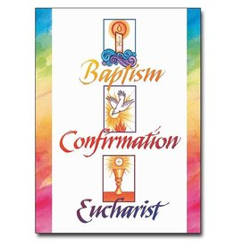 The Printery House Baptism, Confirmation, Eucharist (Full Initiation) RCIA Congratulations Card