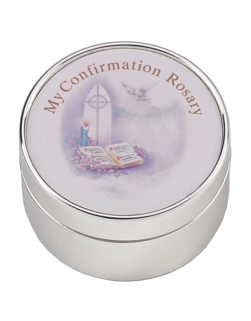 Lumen Mundi Confirmation Silver Box Set With Red Rosary