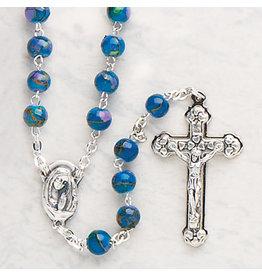 Devon Trading Company Imitation Cloisonne Rosary Blue