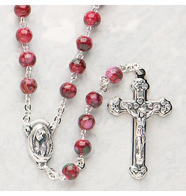 Devon Trading Company Imitation Cloisonne Rosary Red