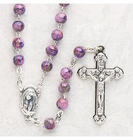 Devon Trading Company Imitation Cloisonne Rosary Purple