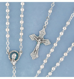 Devon Trading Company Metal Bead Rosary Silver