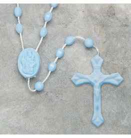 Moshy Brothers, Inc Small Blue Cord Rosary