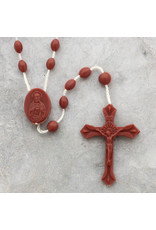 Moshy Brothers, Inc Small Brown Cord Rosary
