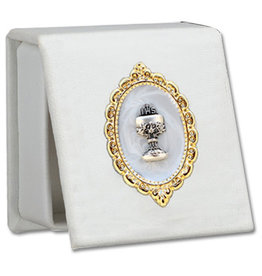Devon Trading Company Frist Communion Leatherette Keepsake Box